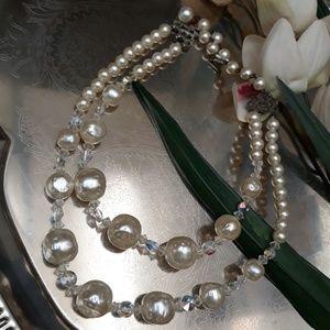 Shimmering Elegance Double Strand Necklace